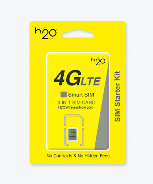 image of h2o wireless prepaid Plans /family plan SIM Card