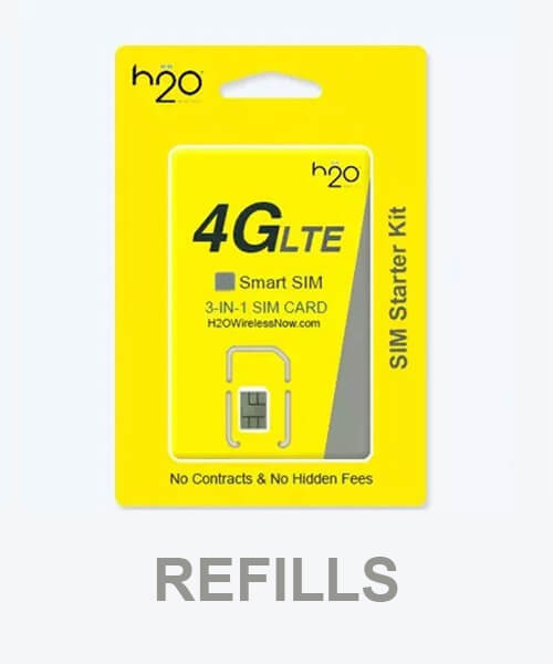 image of H2O Wireless Monthly Plan Refill
